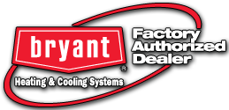 Bryan Factory Authorized Dealer logo--a red oval with the logo and text inside it